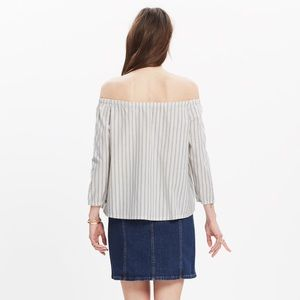 Madewell • Striped Off The Shoulder Top